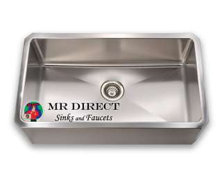 Single Bowl Undermount Apron Stainless Steel Sink New