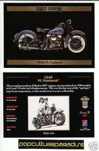 1948 48 HARLEY DAVIDSON FL PANHEAD BIKE MOTORCYCLE CARD