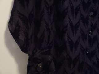HARLEY DAVIDSON Button Front Velvet Burn out Blouse Shirt Top