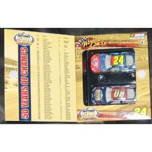 Nascar Winners Circle Daytona 500 50 Years Two Car Set 24