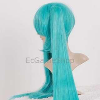 VOCALOID Hatsune MIKU Cosplay Straight Long Wig Green