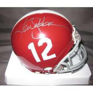Ken Stabler Alabama Crimson Tide NCAA Hand Signed Mini Football Helmet