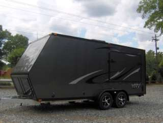 7x18 camper enclosed motorcycle cargo trailer toy hauler A/C work and