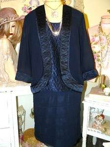 MOTHER OF THE BRIDE Chic BLACK Party DRESS JACKET SET 16