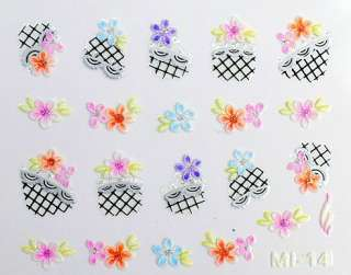 NEW NAIL/ART/STICKERS/DECALS A CHOICE OF 8 JAPANESE DESIGNS GLOW IN
