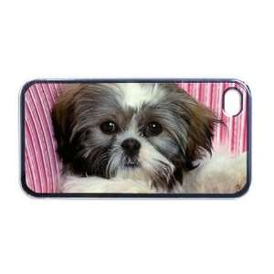Shih tzu cute puppy Apple RUBBER iPhone 4 or 4s Case