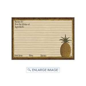 Pineapple Welcome Home 4 X 6 Recipe Cards   Pkg. Of 50