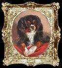 King Charles Spaniel Dog Miniature Dollhouse Picture