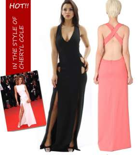 CELEBRITY Stunning cut out full length MAXI DRESS