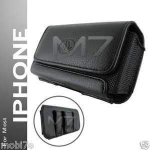 PREMIUM LEATHER POUCH CASE FOR IPHONE IPOD TOUCH COVER WITH BELT CLIP