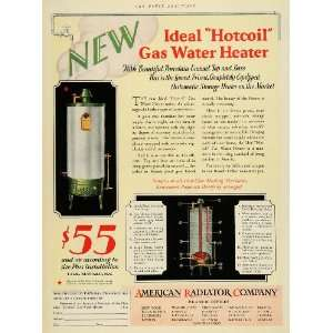 1928 Ad American Radiator Co Gas Water Heater Hotcoil Heating Home