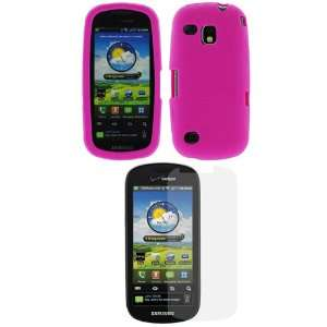 GTMax Hot Pink Silicone Skin Soft Cover Case + LCD Screen