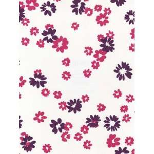 Hot Pink Flowers on White Wallpaper in Just Kids
