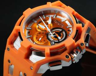 Invicta Mens Reserve Akula Swiss Made Chronograph Orange Strap Watch