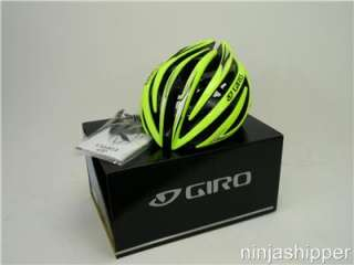 2012 Giro Aeon Highlight Yellow / Black Bicycle Helmet   Medium   M