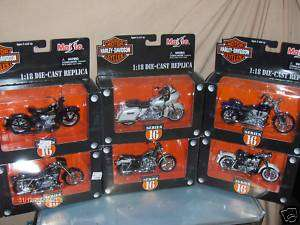 Toy Maisto 118 Harley Davidson Diecast Motorcycle Series 16 Set