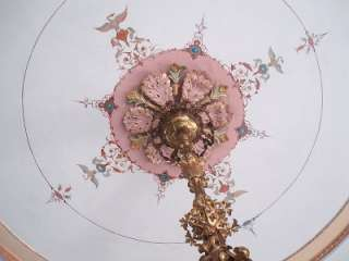 Stunning Italian Antique Chandelier Rococo Style Angel Cherub Light