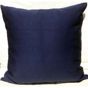 Canvas Cotton Cushion Pillow Cover 18/19  Navy Blue