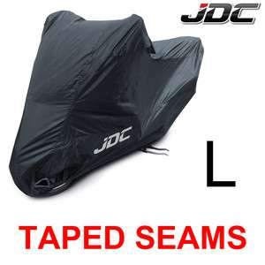 JDC MOTORCYCLE Cover Black 100% WATERPROOF LARGE