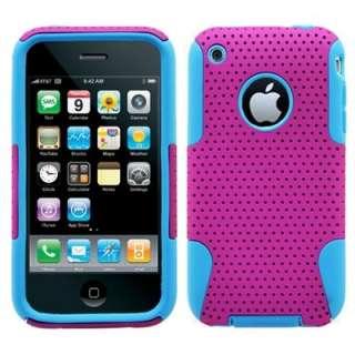 iPhone 3G 3GS Hybrid Silicone Hard Case Purple/Blue