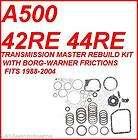 TRANSMISSION MASTER REBUILD KIT W/ BORG  (Fits 1998 Dodge Durango