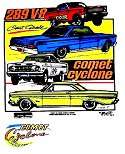 LINCOLN MERCURY 1964 AFX COMET DRAG RACE CYCLONE CS30