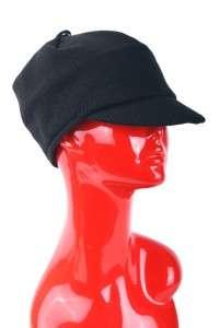NEW DOLCE & GABBANA ADORABLE BLACK WOOL NEWSBOY HAT 56/SMALL