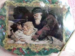 LOVELY VICTORIAN Father Christmas SANTA LETTER SLEEPING CHILDREN
