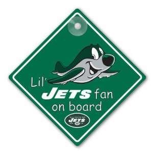 New York Jets NFL Lil Fan on Board Sign