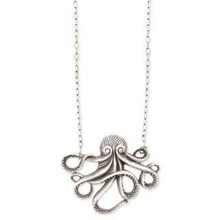 Antique Gold Octopus Necklace Fashion Jewelry by Zad