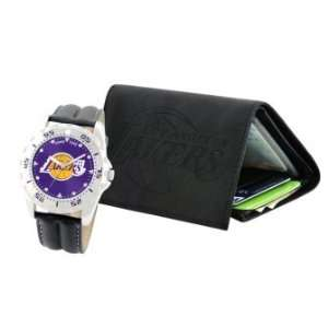 Gametime Los Angeles Lakers Watch and Wallet Set Sports