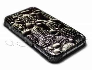 New Black leather hard case cover for iphone 4 4G TP12