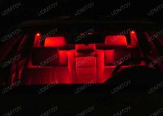 Red 578 211 2 LED Bulbs Interior Map or Dome Lights #05