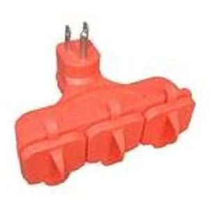 Kab Enterprise Co Ltd KAB 3FLU ORG 3 Outlet Heavy Duty Outdoor Adapter
