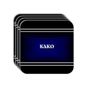 Personal Name Gift   KAKO Set of 4 Mini Mousepad Coasters (black