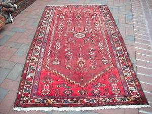 VEGETABEL DY ANTIQUE PERSIAN KURD BIJAR HERIZ KAZAK 4x6