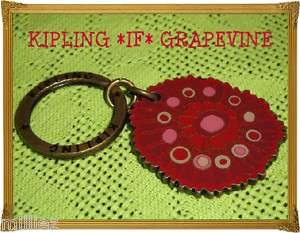 NEW*KIPLING GRAPEVINE*LIPSTICK RED*KEY RING*MONKEY BAGS