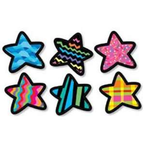 12 Pack CREATIVE TEACHING PRESS STARS DESIGNER CUT OUTS