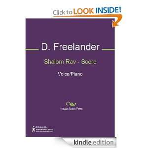 Music (Score): D. Freelander, J. Klepper:  Kindle Store