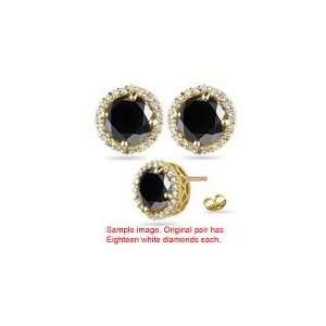 2.69 3.23 Cts Black & White Diamond Stud Earrings in 18K