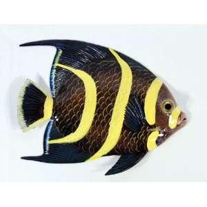 BIG 12 Tropical Fish Tiki Sea Life Bath Wall Decor Yellow