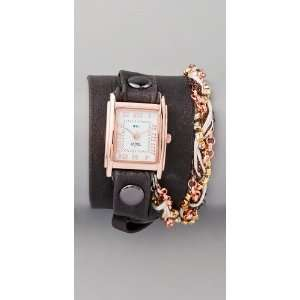 Auth La Mer Collection Womens Grey Turkish Crystal Chain Wrap Watch