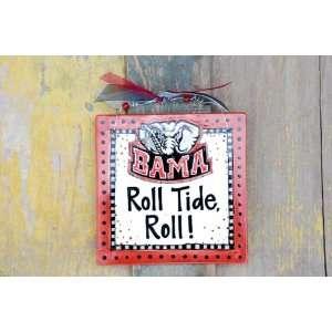 Alabama Bama Roll Tide Roll 8x8 Tile