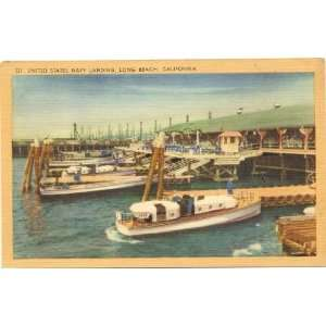 Vintage Postcard United States Navy Landing Long Beach California