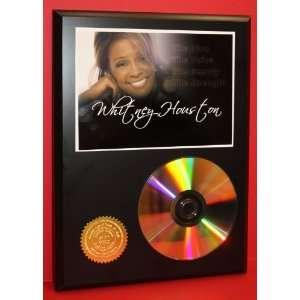 Whitney Houston 24kt Gold CD Disc Display   Music Memorabilia   Award