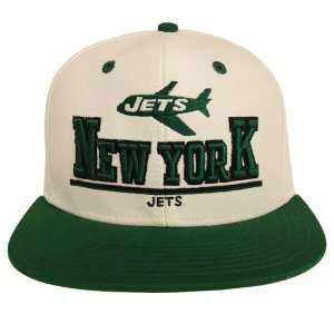 New York Jets Retro 3D Snapback Cap Hat White Green