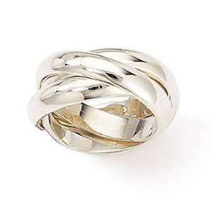 Sterling Silver Triple Rolling Ring (Size 6) Jewelry