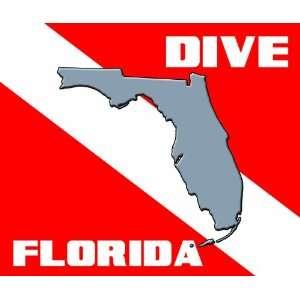 DIVE FLORIDA State Scuba snorkel skin Diver Flag Mouse Pad