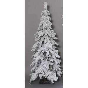 Heavy Flocked Snow Rocky Mountain Pine Christmas Tree