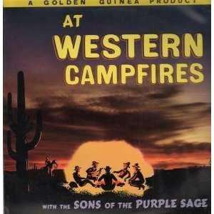 AT WESTERN CAMPFIRES LP (VINYL) UK GOLDEN GUINEA: SONS OF